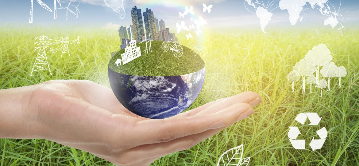 Green city, Save earth concept,Elements of images furnished by N